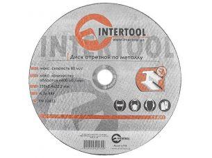 Диск отрезной по металлу 230x2,4x22,2 мм INTERTOOL