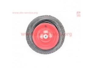 Шина + диск на тачку 3,50-8 (под ось 12мм)