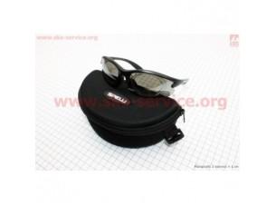 Очки черные + линзы сменные 4к-кта + набор для ухода, в чехле жестком SGL-643