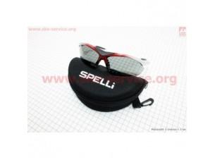 Очки серо-красные + линзы сменные 3к-кта + набор для ухода, в чехле жестком SGL-901