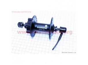 Втулка передняя MTB алюминиевая 14Gx36H под диск.тормоз, крепл. эксцентрик, черная HB-M475