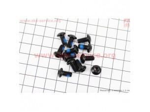 Болт тормозного диска M5x10мм, под ключ Т25, 12шт. к-кт, черный