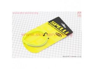 Защита штанов от попадания в цепь, светоотражающая, пластмассовая, салатово-серая, к-кт 2 шт, SCC-NH01P