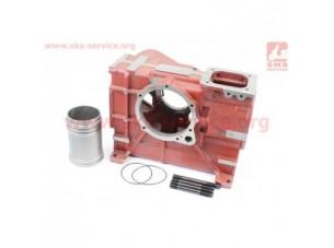 Блок двигателя, под поршень 80мм R180NM (длинный) (+гильза+шпильки 4шт)