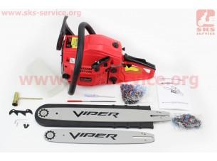 """Бензопила Viper 4500 Extra 45cc (2,8кВт. шина 14""""-1шт, шина 18""""-1шт), в коробке по 2шт. ЦЕНА ЗА 1ШТ!!!"""