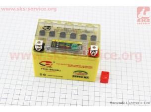 Аккумулятор 4Аh YTX4L-BS (гелевый, желтый) 113/70/85мм с ИНДИКАТОРОМ, 2018, от 10шт -3% (завод OUTDO)