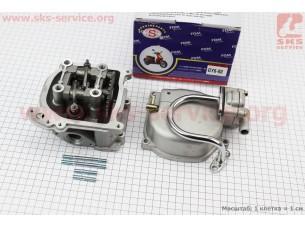 Головка цилиндра+клапана+пастель+распредвал+кр. клапанов+патрубок сапуна 47мм-80cc