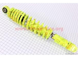 Амортизатор задний 320мм (регулируемый, цвет - лимонный с паутиной)