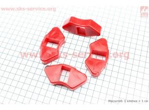 Демпферная резинка заднего литого колеса (к-кт 4шт) КРАСНЫЕ