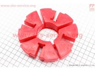 Демпферная резинка заднего колеса (к-кт 4шт) КРАСНЫЕ