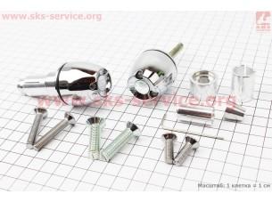 """Заглушка - отбойник руля H310W1 """"ХРОМ"""" c LED подсветкой, D=12-22mm,, к-кт 2шт"""