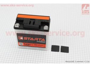 "Аккумулятор 6V/18Аh, (кислотный, сухой, плоская клема) 140/75/140мм, МТ,ИЖ, ""STARTA"", 2018"