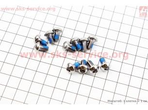 Болт тормозного диска M5x10мм, под шестигранник 4мм, 12шт. к-кт, хром