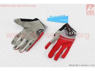 """Перчатки M-серо-красные, с мягкими вставками под ладонь """"GIANT"""""""