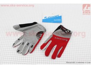 """Перчатки L-серо-красные, с мягкими вставками под ладонь """"GIANT"""""""