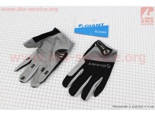 """Перчатки L-черно-серые, с мягкими вставками под ладонь """"GIANT"""""""