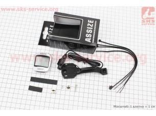 Вело-компьютер 11-функций, проводной, серый AS-505 (незначительное окисление контактов)