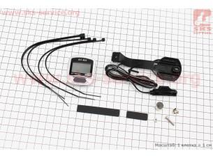 Вело-компьютер 11-функций, проводной, серо-черный AS-405 (незначительное окисление контактов)