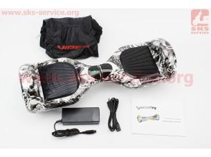 "Гироборд 6,5"" SKULL GRAFFITI - 2х250W, батарея Li-ion 36V 4.4Ah, макс. 15 км/ч, 20 км хода, макс. нагрузка 120кг, самобаланс, Bluetooth, подсветка"