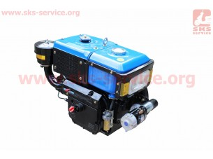 Двигатель мотоблочный в сборе + стартер 8л.с. (завод ZUBR) SH180NDL длинная крышка